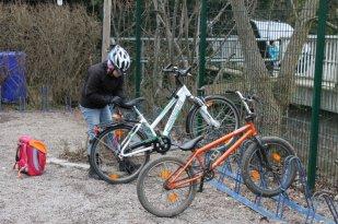 Aus Bräunsdorf kommen auch einige mit dem Fahrrad, dafür brauchen sie aber eine Erlaubnis.
