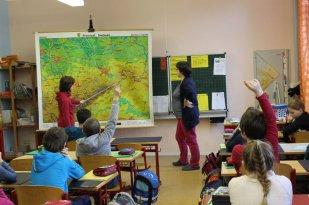 """1. Stunde -  Sachkunde-unterricht in Klasse 4 – wir haben gerade das Thema """"Sachsen"""" dran."""